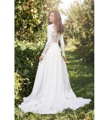 Κρεπ φόρεμα με σορτσάκι με μακριά μανίκια